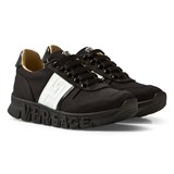 Young Versace Black Branded Sole Trainers