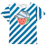 Billybandit Blue Stripe Mr Watermelon Print Tee