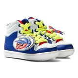 Billybandit Blue Melon Badge Hi Top Trainers