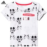adidas White Micky Mouse Tee