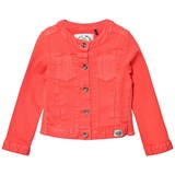 IKKS Coral Denim Jacket with Broiderie Anglais Detail