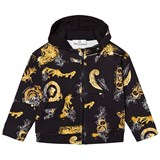Young Versace Black and Gold Baroque Print Hoody