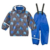Celavi Grey Elephants Rainwear Set