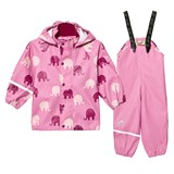 Celavi Chateau Rose Elephants Rainwear Set