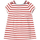 Petit Bateau Red Stripe Jersey Dress with Piped Detail