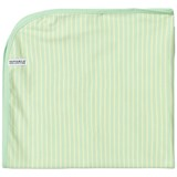 Geggamoja Soft Green and Yellow Striped Blanket