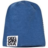 Geggamoja Reversible Blue and Striped Hat
