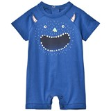 Paul Smith Junior Navy Glow in the Dark Monster Print Romper