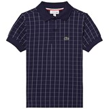 Lacoste Navy Grid Pattern Polo