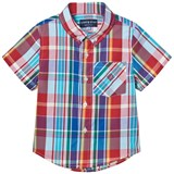 Andy & Evan Red and Blue Madras Button Down Shirt