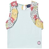 Andy & Evan Aqua Vest with Ruffle Sleeves