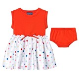 Andy & Evan Red Tee Dress with Spot Skirt