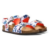 Joules White Floral Buckle Sandals