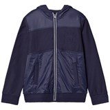 Mayoral Navy Contrast Fabric Hoody