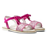 Mayoral Pink Patent and Giltter Bow Sandals