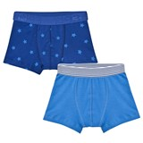 Petit Bateau 2 Pack of Blue and Star Print Trunks