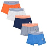Petit Bateau 5 Pack of Multi Trunks with Stripe Waistband