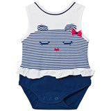 Mayoral Navy Face Print Stripe Frill Body and Headband Pack