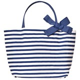 Grevi Blue Stripe Handbag with Spot Bow