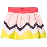 Catimini Multi Print Zig Zag Stripe Skirt
