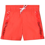 Calvin Klein Red Branded Swim Trunks