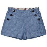 Burberry Blue Chambray Etty Shorts
