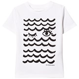 Burberry White Waves & Lashes Tee