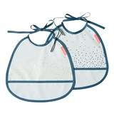 Done by Deer Blue 2-pack Happy Dots Tiny Bib