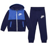 Nike Navy and Blue Hybrid French Terry Hoodie and Joggers Set