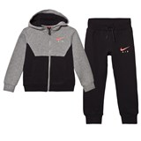 Nike Grey and Black Air Fleece Hoodie and Joggers Set