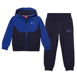 Nike Navy and Blue Air Fleece Hoodie and Joggers Set