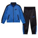 Nike Black and Blue Futura Tricot Jacket and Bottoms Set