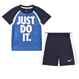 Nike Blue Just Do It Tee and Short Set
