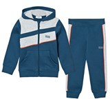 BOSS Navy, Grey and Red Branded Tracksuit