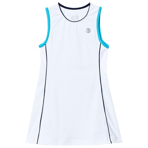 White and Blue Classic Tennis Dress