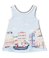 Mayoral Multi Bear in Venice Print Jersey Dress