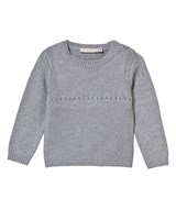 Stella McCartney Kids Grey Knitted Jumper with Bunny Back