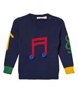 Stella McCartney Kids Blue Musical Note Jumper