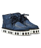 Stella McCartney Kids Munster Denim Shoes with Piano Sole