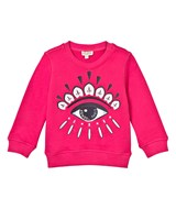 Kenzo Kids Hot Pink Eye Applique Sweatshirt