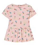 Stella McCartney Kids Pink Pineapple Print Dress