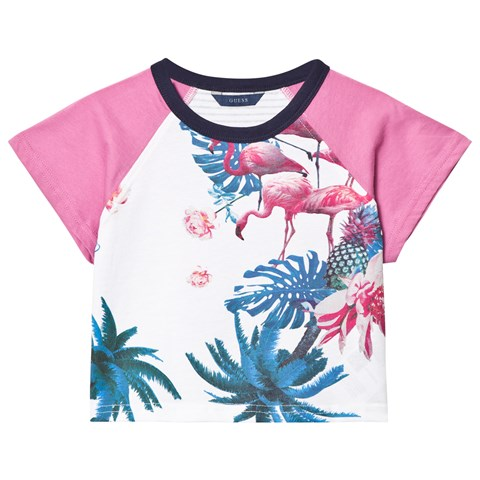 White Flamingo and Floral Print Tee