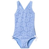 Heidi Klein Blue Jamie Crochet Swimsuit