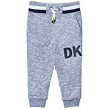 DKNY Grey Marl Sweatpants with Rubberised Logo