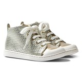 10 IS Gold Mid Lace Trainers
