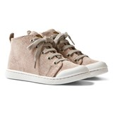 10 IS Galu Pink Mid Lace Trainers