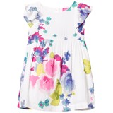 Joules White and Floral Woven Party Dress