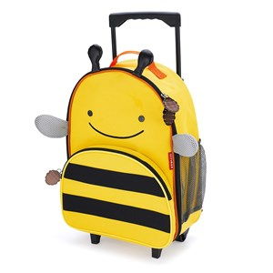 Skip Hop Zoo Kids Rolling Luggage Suitcase - Bee