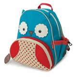 Skip Hop Blue & Red Zoo Owl Backpack