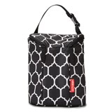 Skip Hop Black Printed Double Bottle Bag